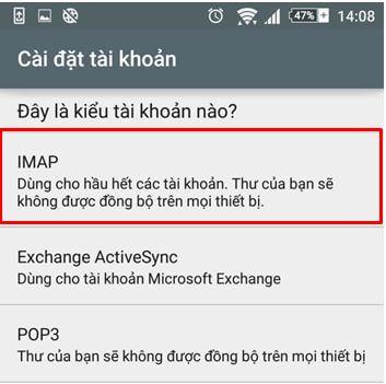 B5 Hướng dẫn tạo mail trên android