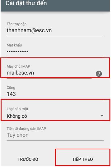 B6 Hướng dẫn tạo mail trên android