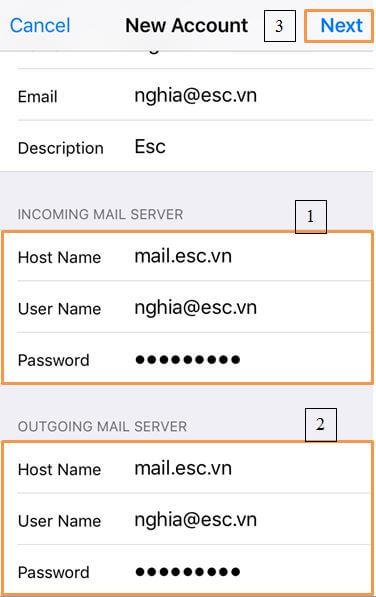 B7-1 Hướng dẫn tạo mail trên IOS