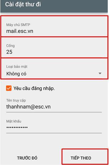 B7 Hướng dẫn tạo mail trên android