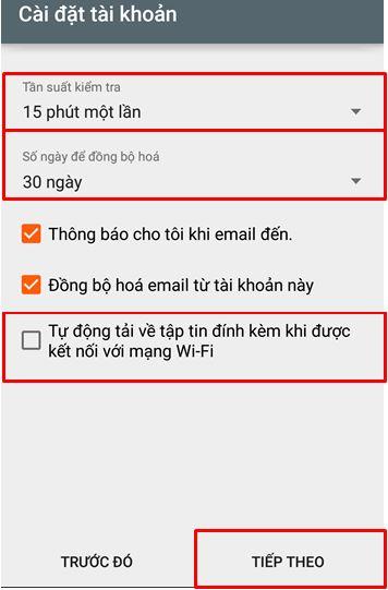 B8 Hướng dẫn tạo mail trên android