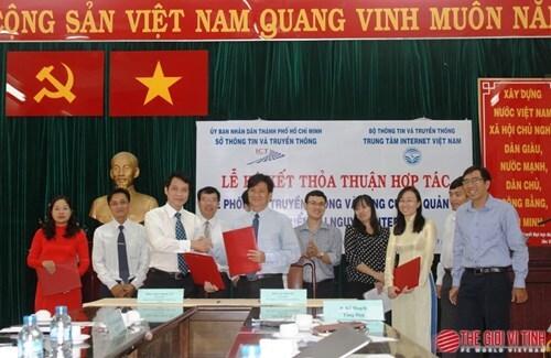 Sở TTTT TP.HCM và VNNIC ký thỏa thuận hợp tác