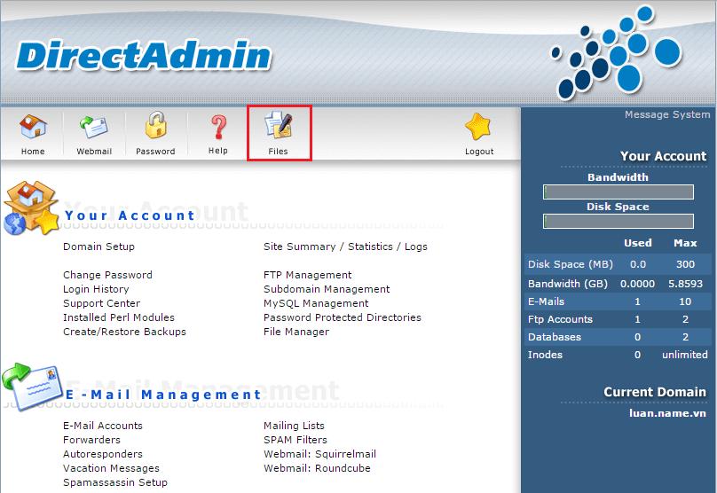 Hướng dẫn Upload Website lên hosting