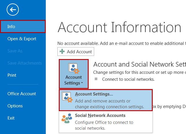 2k10-1 Hướng dẫn cấu hình email trên Microsoft Outlook 2013 và 2016