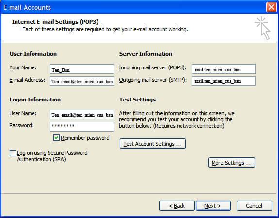 2k3_04 Hướng dẫn cấu hình Microsoft Outlook 2003