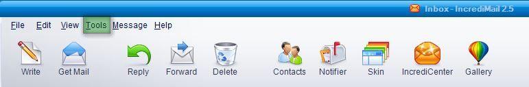 ire4 Hướng dẫn cấu hình email account IncrediMail