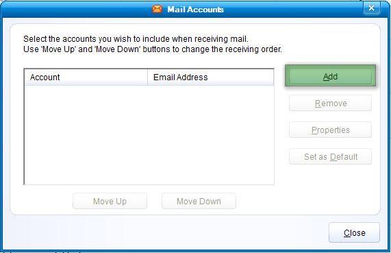 ire6 Hướng dẫn cấu hình email account IncrediMail