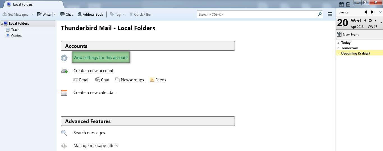 th Hướng dẫn cấu hình email account trên Mozilla ThunderBird