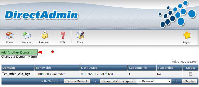 add_domain2 Hướng dẫn add thêm một domain khác vào hosting của bạn