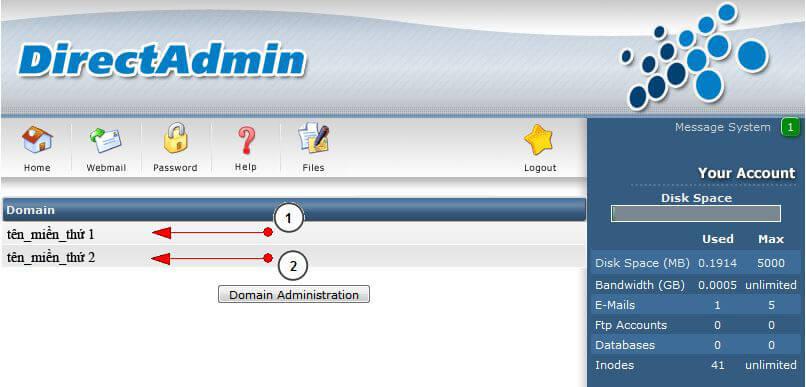 add_domain5 Hướng dẫn add thêm một domain khác vào hosting của bạn