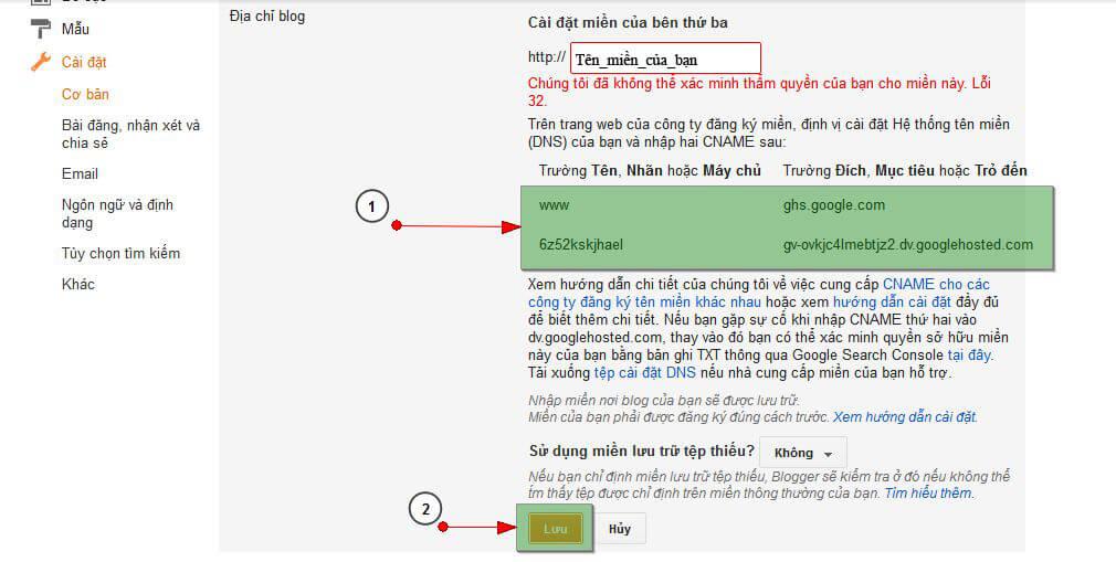 bloger3 Hướng dẫn trỏ tên miền đến blog của bạn
