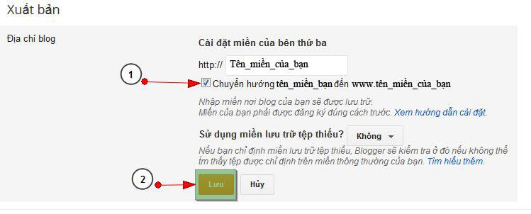 bloger9 Hướng dẫn trỏ tên miền đến blog của bạn