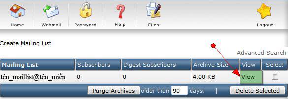 mail_list4 Hướng dẫn cấu hình mail list
