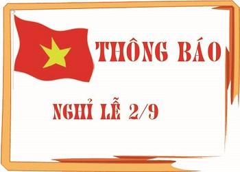 ESC Thông Báo Nghỉ Lễ Quốc Khánh 2/9/2016