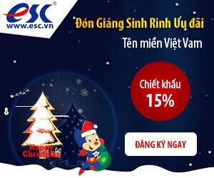 """Thông tin chi tiết khuyến mãi """"Đón Giáng Sinh – Rinh Ưu Đãi"""" Chiết Khấu 15% tên miền Việt Nam"""