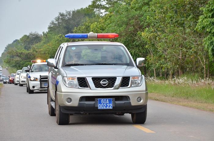 Đoàn Caravan được sự dẫn đường của lực lượng Cảnh sát Giao thông (PC 67) Công an tỉnh Đồng Nai.