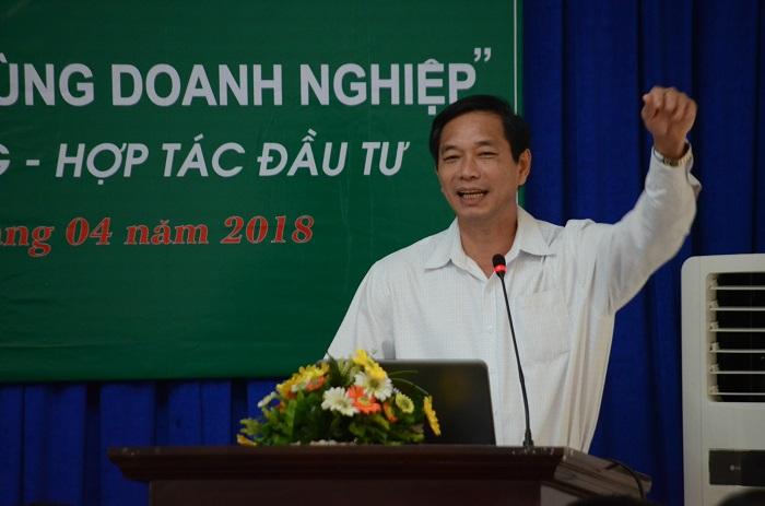 Ông Võ Văn Phi – Chủ tịch UBND huyện Vĩnh Cửu, tỉnh Đồng Nai giới thiệu về tiềm năng phát triển kinh tế, thu hút đầu tư của địa phương.
