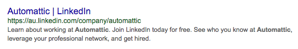 meta description linkedin