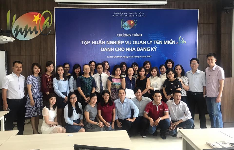 ESC tham gia đào tạo nghiệp vụ do VNNIC tổ chức hàng năm.